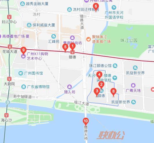 猎德村地图